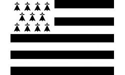 Sticker / autocollants : Drapeau de la Bretagne - 5cm