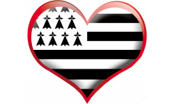 sticker / autocollant : coeur breton - 10x11.5cm