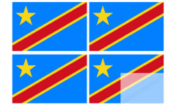 Sticker / autocollant : drapeau officiel Republique democratique du Congo