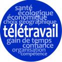 Stickers / autocollant : télétravail - 10cm