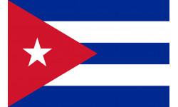 Sticker / autocollant : Drapeau Cuba - 5x3.3 cm