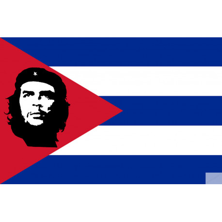 drapeau Cuba avec le che