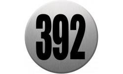 numéroderue392 gris brossé