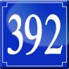Sticker / autocollant : numéroderue392 classique - 10cm