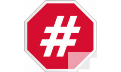 stickers / autocollant hashtag stop