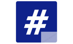 stickers / autocollant hashtag parking
