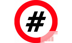 stickers / autocollant hashtag obligation
