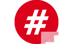 stickers / autocollant hashtag interdiction