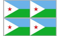 Stickers / autocollants drapeau Djibouti 2