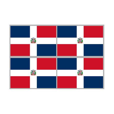 Stickers / autocollants drapeau République dominicaine 2