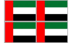Stickers / autocollants drapeau Émirats arabes unis 2