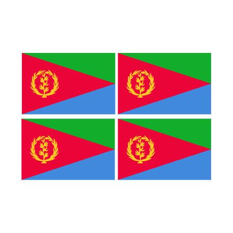Stickers / autocollants drapeau Érythrée