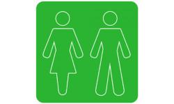 Autocollants : autocollant WC toilette VERT