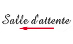Sticker / autocollant : salle d'attente direction gauche 1