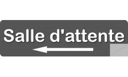 Sticker / autocollant : salle d'attente direction gauche 3