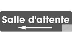 Sticker / autocollant : salle d'attente direction gauche 6