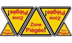 autocollants Zone Piégée !