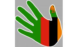 Stickers / autocollants drapeau Zambie main