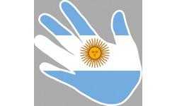 drapeau Argentine main