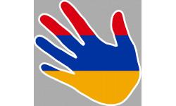 drapeau Armenien main