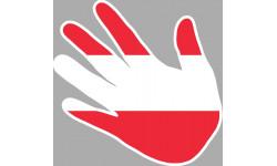 drapeau Autrichien main