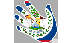 drapeau Belize main