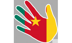 drapeau cameroun main
