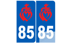 numero immatriculation 85 rouge (Vendée)