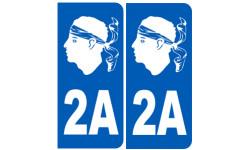 numero immatriculation 2A blanc (Corse-du-Sud)