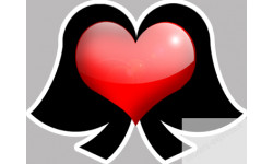 Autocollants : Stickers / autocollant coiffe Alsacienne coeur