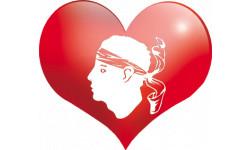 Sticker / autocollant coeur Corse