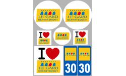 Autocollants : stickers autocollants departement du Gard