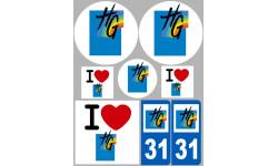 Autocollants : stickers autocollants departement de la Haute Garonne