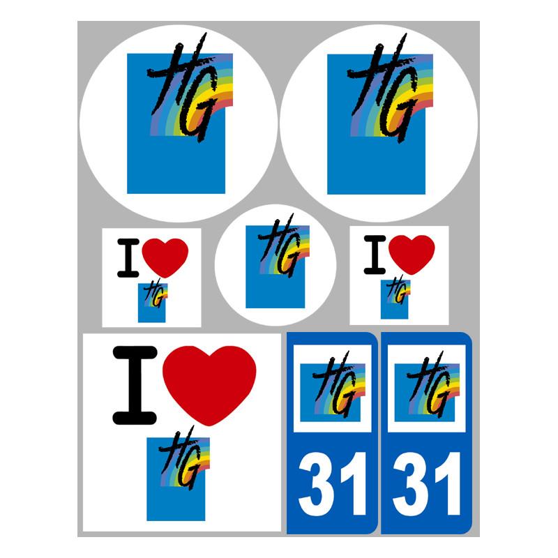 Stickers autocollant d partement de la haute garonne for Haute garonne