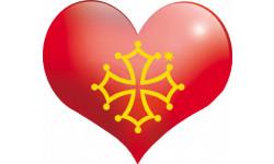 Stickers / autocollant coeur Pays Occitan