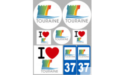 Autocollants : stickers autocollants departement de la Touraine