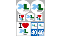 stickers autocollants departement des Landes