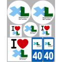 stickers autocollants departement des Landes