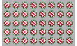 Stickers / autocollants série Produits Basque rouge 2