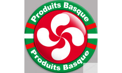 Stickers autocollant Produits Basque rouge