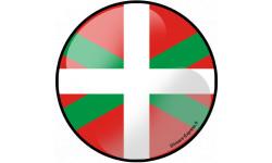 Stickers / autocollant drapeau basque effet 3d