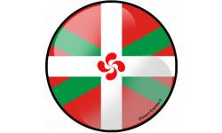 Stickers / autocollant drapeau basque lauburu effet 3d