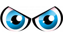 autocollants street art Paire d yeux bleus