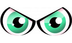 autocollants Paire d yeux verts