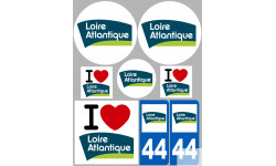 stickers autocollants departement de la Loire Atlantique