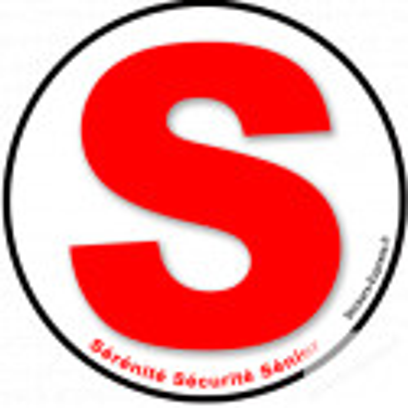 Autocollants : autocollant 3 S Sérénite sécurite sénior