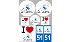 stickers autocollants departement de la Marne