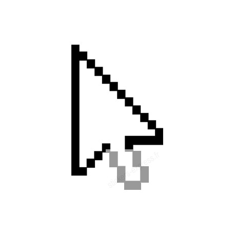 stickers /  autocollants curseur flèche