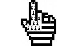 stickers /  autocollants curseur main bretonne