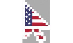stickers /  autocollants curseur flèche US